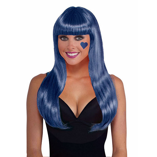 Neon Blue Adult Wig