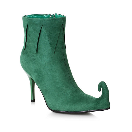 Women'S Green Holiday Boot W/ Heel
