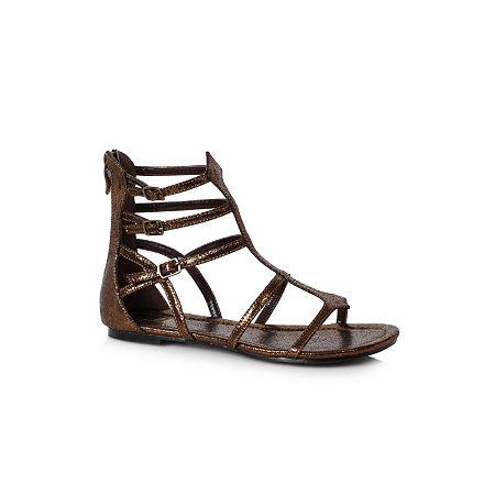 Buyseasons Women'S Bronze Gladiator Sandal, 9 , Brown