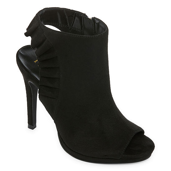 Nicole By Nicole Miller Heather Womens Zip Open Toe Stiletto Heel Pumps