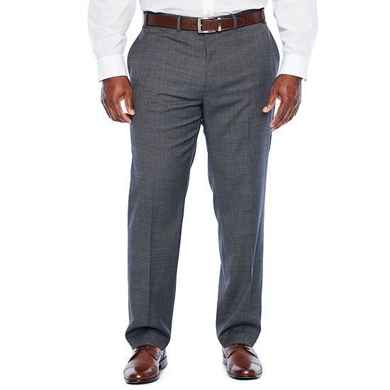 Collection By Michael Strahan Dots Classic Fit Stretch Suit Pants - Big and Tall