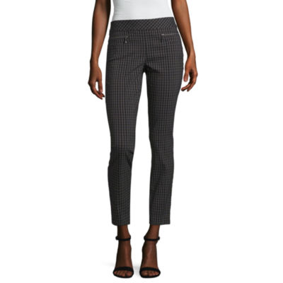 Hollywould Womens Mid Rise Skinny Workwear Pant-Juniors