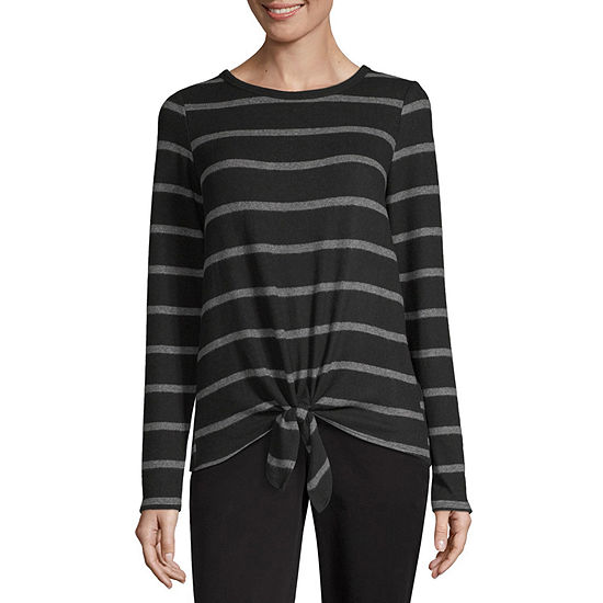 by&by Long Sleeve Round Neck Layered Sweaters-Juniors