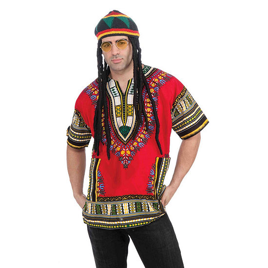 Buyseasons Rasta Hat Hair & Glasses Kit 2-pc. Dress Up Accessory