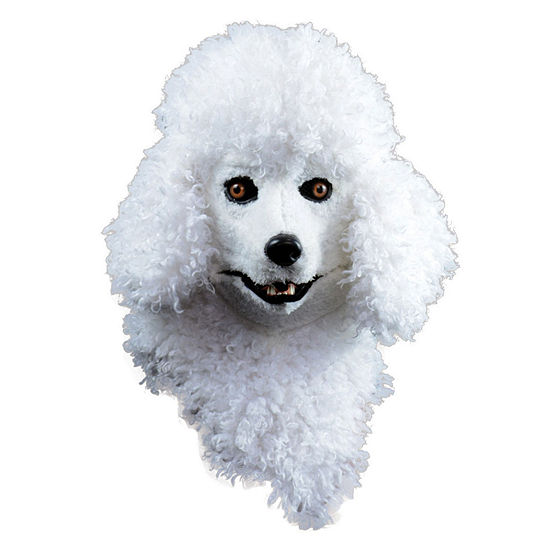 Moving Jaw Poodle Mask Dress Up Accessory
