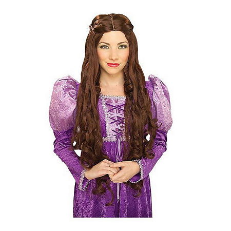 Guinevere Brown Adult Wig, One Size , Brown