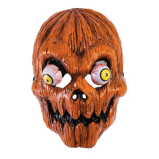 Buyseasons Googly-Eye Pumpkin Mask Dress Up Accessory