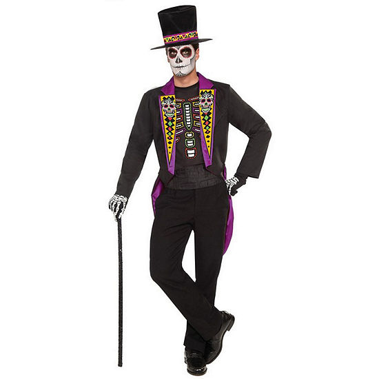 Men'S Day Of The Dead Formal Costume 3-pc. Dress Up Costume