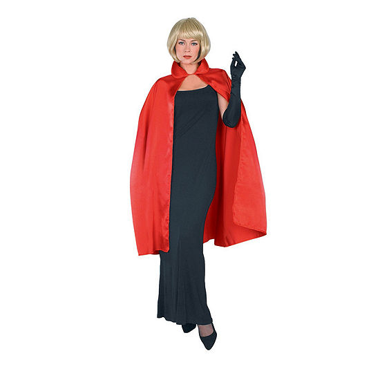 Red Satin Adult Cape Costume