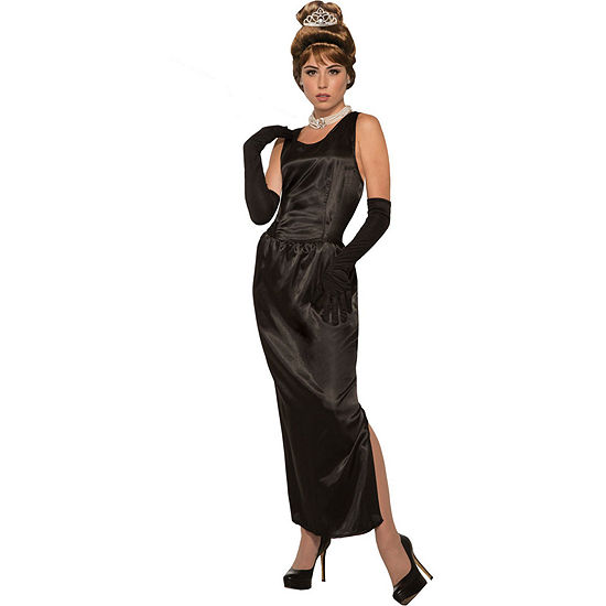 Womens Breakfast At Tiffany'S Gown W/Gloves Dress Up Accessory