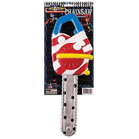Scary Clown Chainsaw, One Size , Multiple Colors