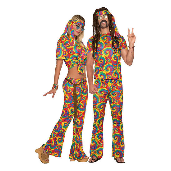 Adult Tie Dye Hippie Costume 3-pc. Dress Up Costume
