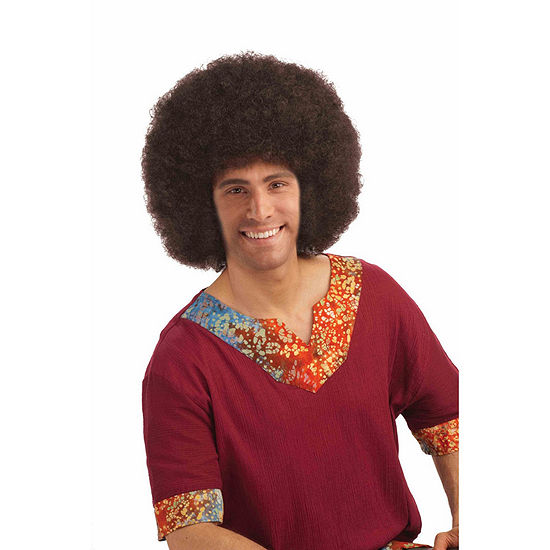 Brown Deluxe Jumbo Afro Adult Wig Dress Up Accessory