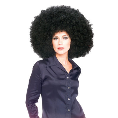 Black Super Afro Wig- One Size Fits Most