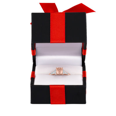 Modern Bride Gemstone Womens 1/10 CT. T.W. Genuine Pink Morganite 10K Rose Gold Bridal Set