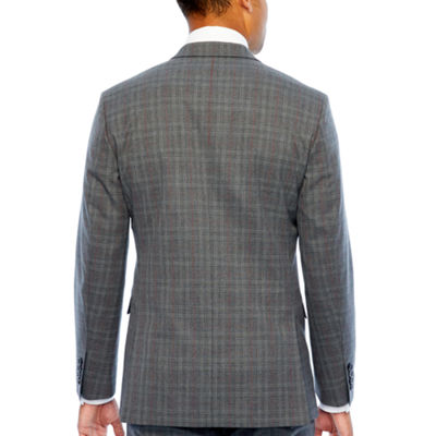 JF J.Ferrar Checked Classic Fit Stretch Suit Jacket-Big and Tall