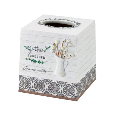 Avanti Modern Farmhouse Tissue Box Cover