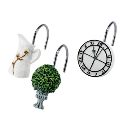 Avanti Modern Framhouse Shower Curtain Hooks