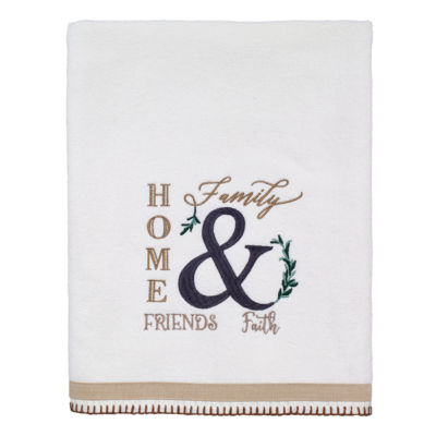 Avanti Modern Framhouse Sentiments + Sayings Bath Towel