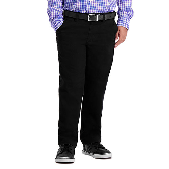 Haggar Haggar Boys Sustainable Chino Little & Big Boys Straight Pull-On Pants