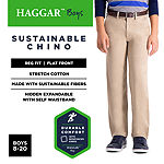 Haggar Sustainable Chino Flat Front Pants Boys