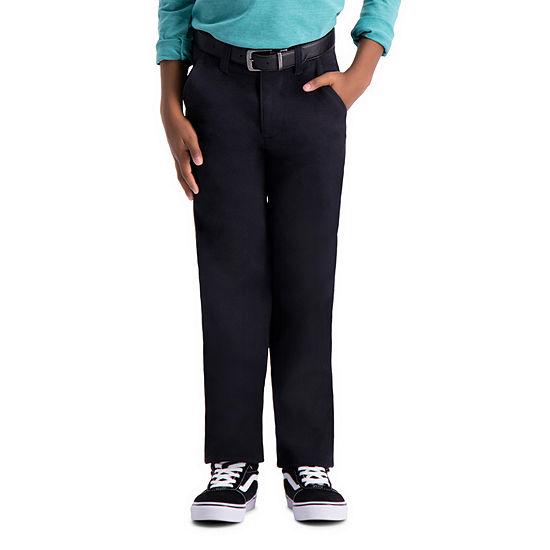 Haggar Sustainable Chino Pant Flat Front Pants Boys Slim