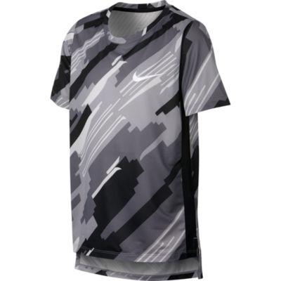 Nike Boys Crew Neck Short Sleeve Dri-Fit T-Shirt-Big Kid