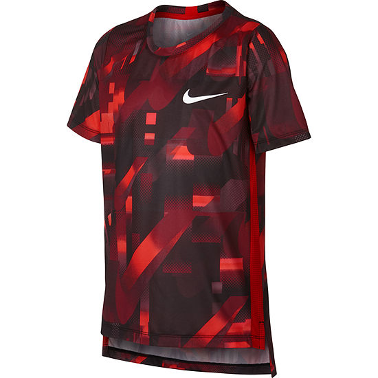 Nike Crew Neck Short Sleeve Dri-Fit T-Shirt - Big Kid Boys