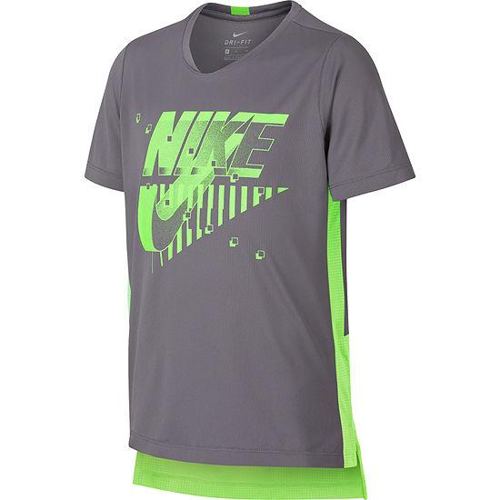 Nike Boys Crew Neck Short Sleeve Dri-Fit Graphic T-Shirt - Big Kid