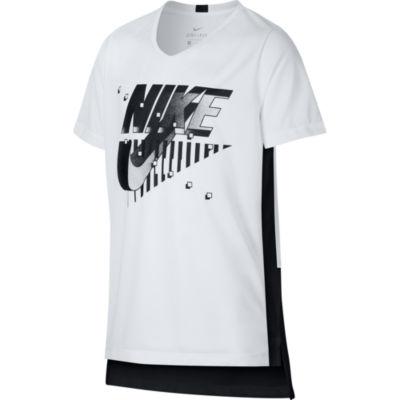 Nike Boys Round Neck Short Sleeve Dri-Fit Graphic T-Shirt-Big Kid