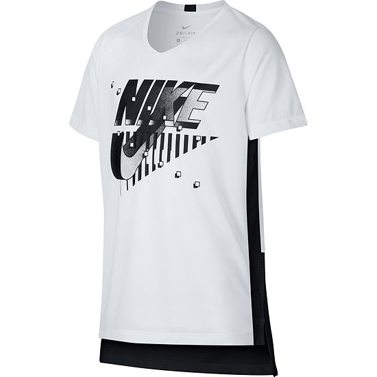a6cbcb07 Nike Boys Round Neck Short Sleeve Dri-Fit Graphic T-Shirt-Big Kid - JCPenney