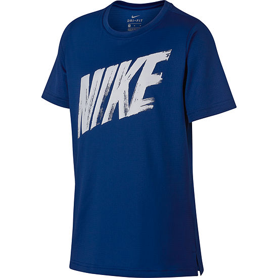 feb1442e5 Nike Boys Crew Neck Short Sleeve Dri-Fit Graphic T-Shirt-Big Kid - JCPenney
