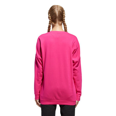 adidas Badge Of Sport Round Neck Long Sleeve Sweatshirt