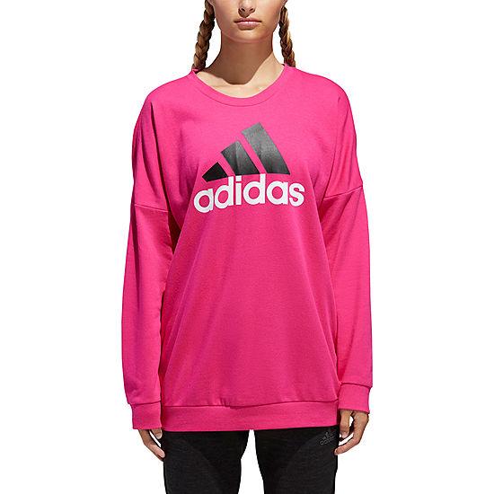 8ca813873bd9 adidas Badge Of Sport Round Neck Long Sleeve Sweatshirt - JCPenney