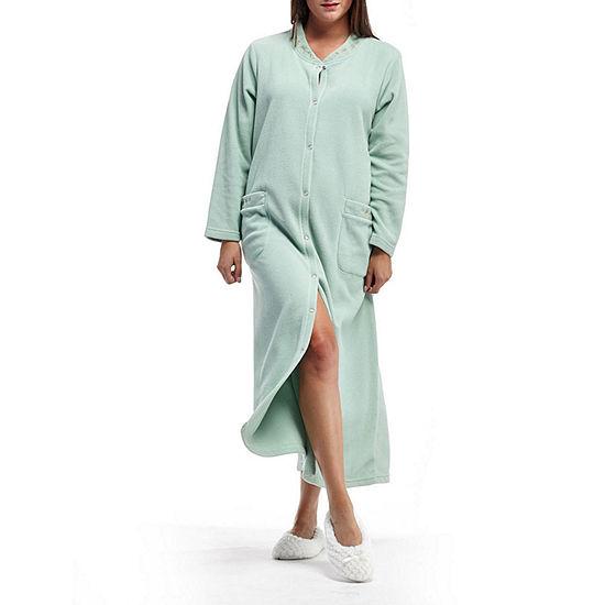 La Cera Snap Front Robe