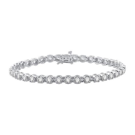 3 CT. T.W. Genuine White Diamond 10K Gold Tennis Bracelet