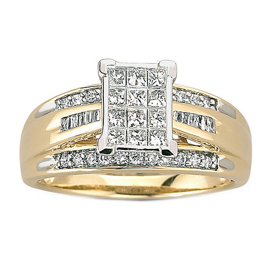 1/2 CT. T.W. Genuine 10K Gold Diamond Bridal Ring