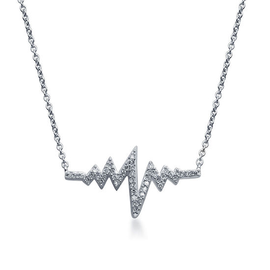 1/7 CT. T.W. Genuine Diamond Sterling Silver Necklace