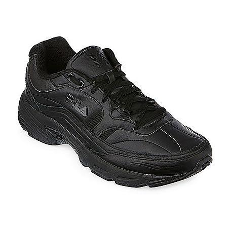 Fila Memory Workshift Mens Slip-Resistant Work Shoes, 10 1/2 Extra Wide, Black