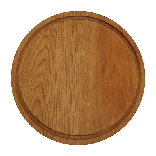 "Casual Home 13.5"" Round Cherry Wood Cutting Board"