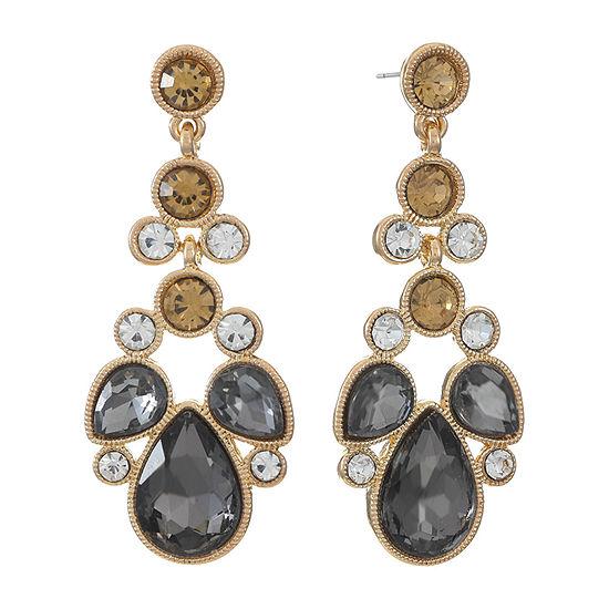 Monet Jewelry Multi Color Chandelier Earrings