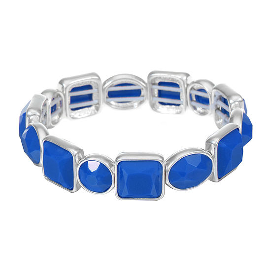 Liz Claiborne Blue Square Stretch Bracelet