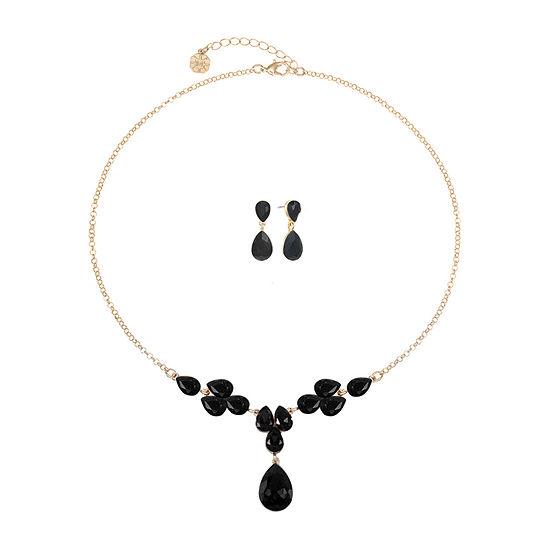 Monet Jewelry 2-pc. Black Jewelry Set