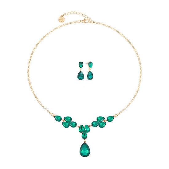 Monet Jewelry 2-pc. Green Jewelry Set
