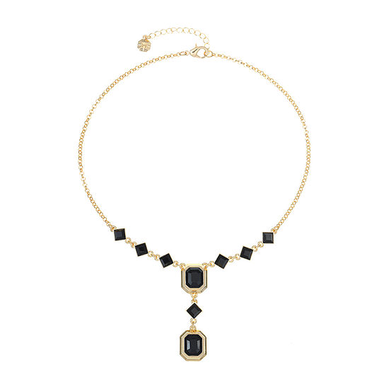 Monet Jewelry Black Copper 17 Inch Cable Y Necklace