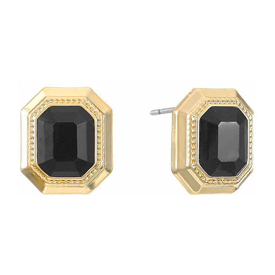 Monet Jewelry Simulated Black Copper 15.5mm Stud Earrings