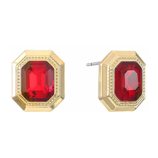 Monet Jewelry Simulated Red Copper 15.5mm Stud Earrings