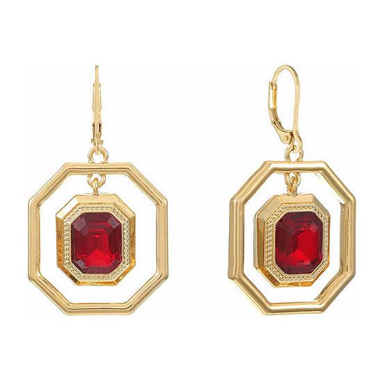 Monet Jewelry 1 Pair Red Copper Drop Earrings