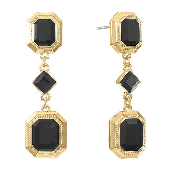 Monet Jewelry 1 Pair Black Copper Drop Earrings