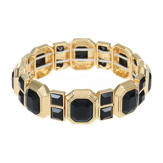 Monet Jewelry Black Copper Stretch Bracelet